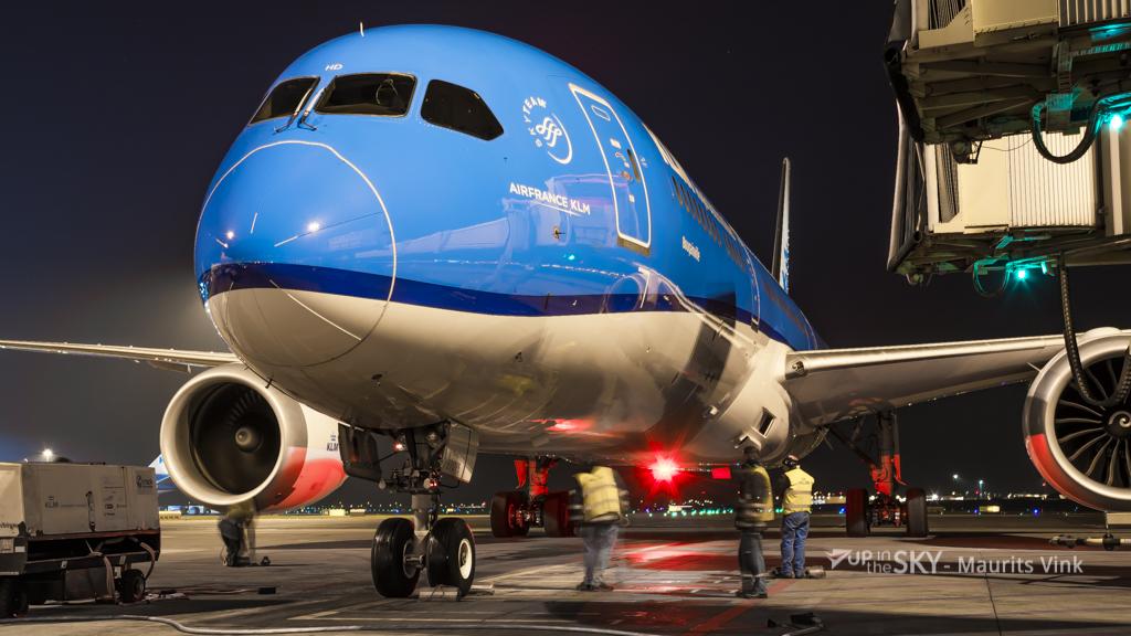 Weer Dreamliner KLM in de lappenmand