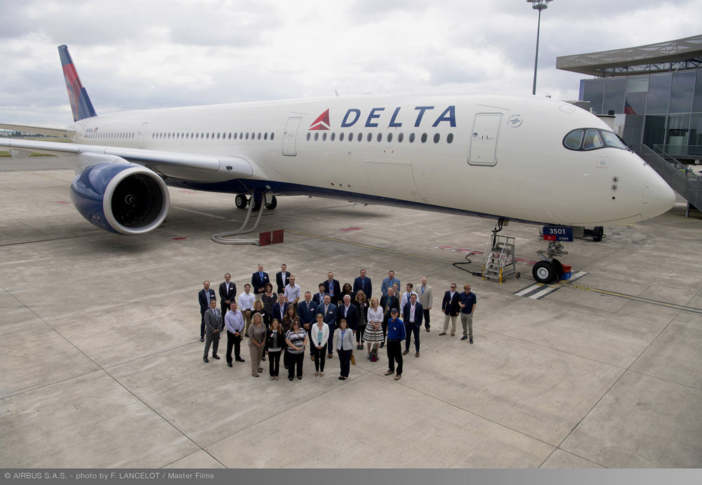 Schiphol eerste Europese A350-bestemming Delta