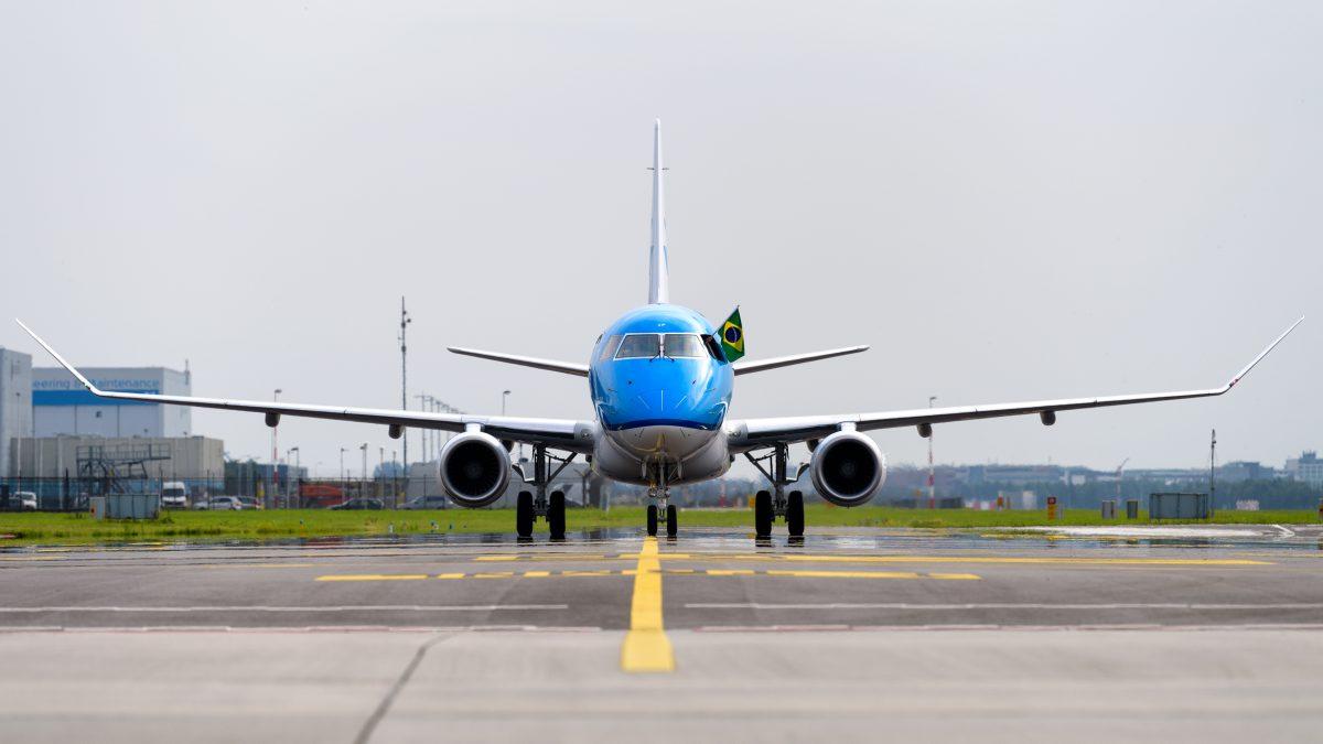 40e KLM Embraer landt op Schiphol