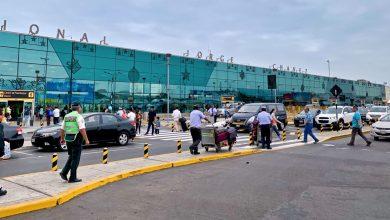 De nationale luchthaven van Peru