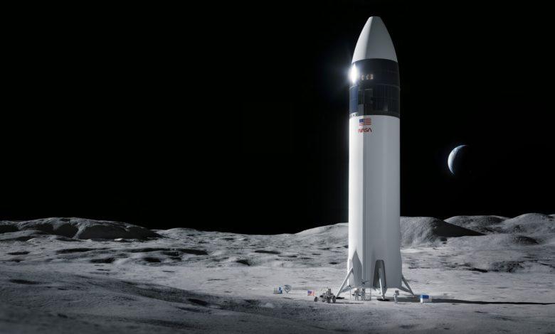 Starship op de Maan