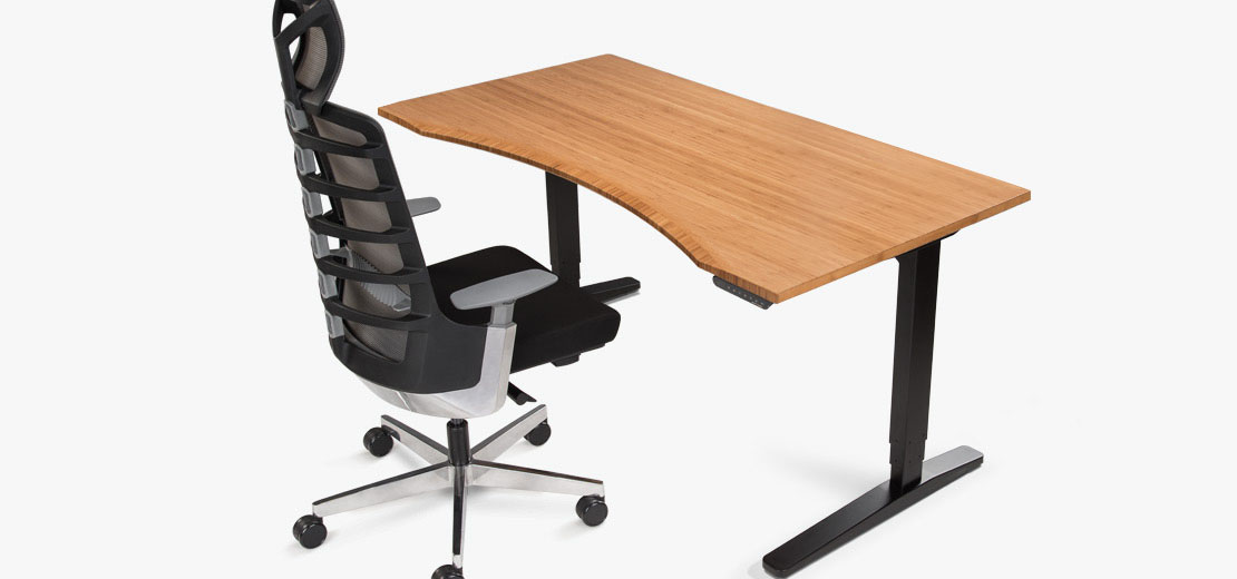 office chair good design loveseat and covers ergonomic chairs stools uplift desk a woman sits on sit stand seating