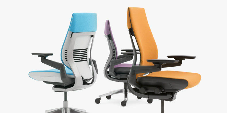 steelcase gesture chair thomasville company uplift desk a trio of colorful and ergonomic chairs