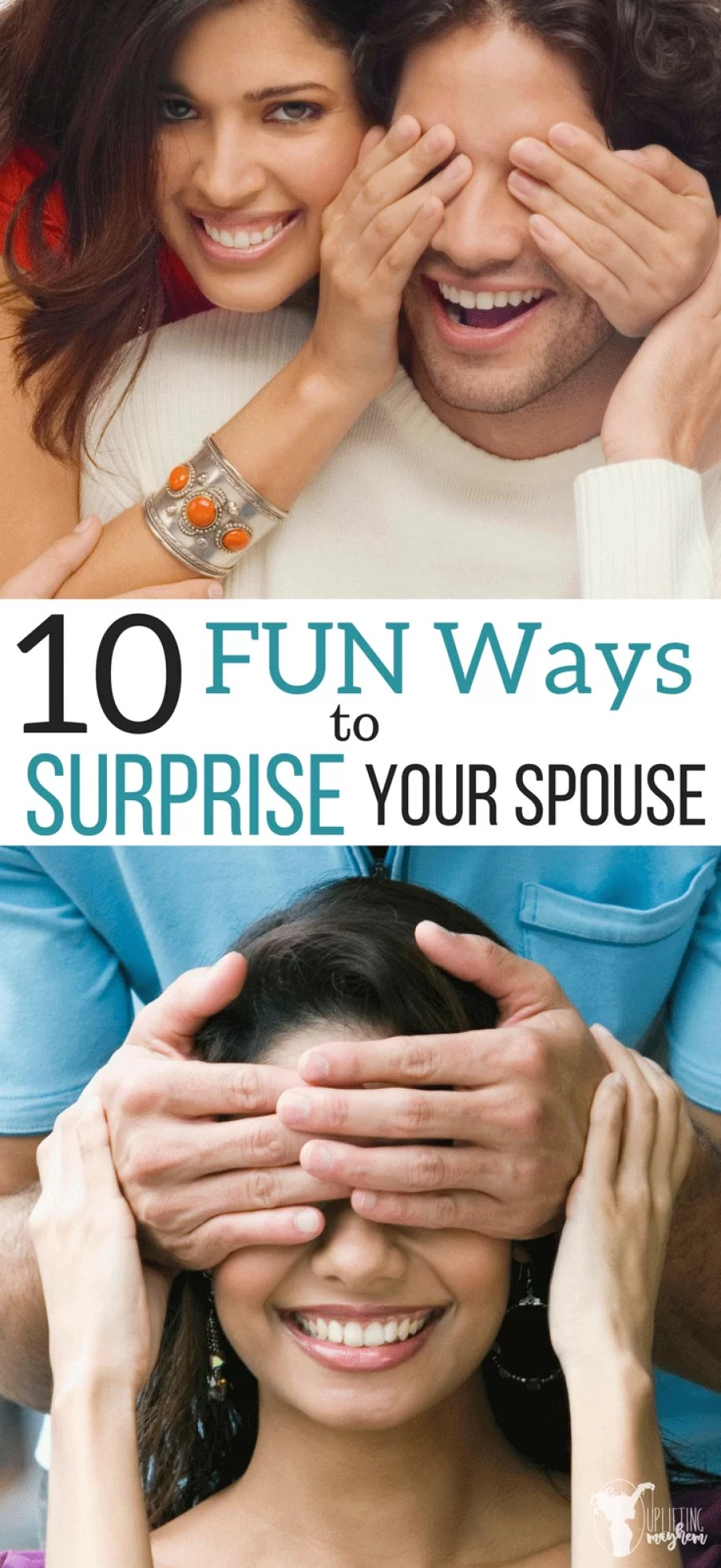 Liven up your marriage withe these fun ways to surprise your spouse! Spend time with your husband/wife and fall in love with them all over again!