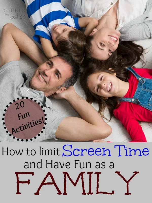 20 great activities for unplugging and strengthening your family.