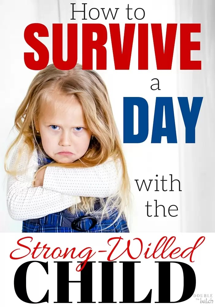Are you dreading waking up tomorrow and having to survive another day with your strong willed child. I've been there and it's not easy! Here are a few things I've learned in my own battles!