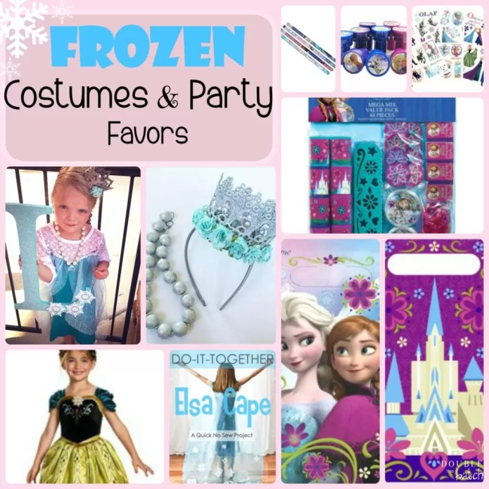 Frozen Themed Costumes and Party Favors