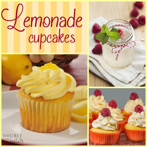 These Lemonade Cupcakes are to die for! They can easily be made into raspberry or strawberry lemonade cupcakes!