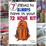 7 Top Items to Always Have in Your 72 Hour Kit