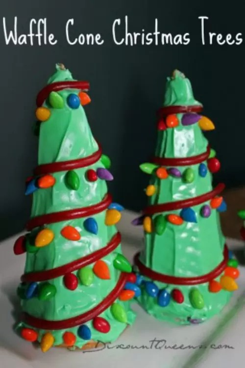 Waffle Cone Christmas Trees by Discount Queens