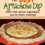 The BEST Artichoke Dip