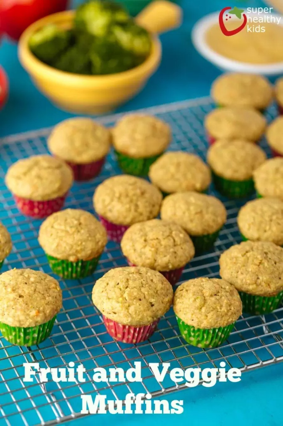 Power Packed Fruit & Veggie Muffins for Picky Eaters by Super Healthy Kids