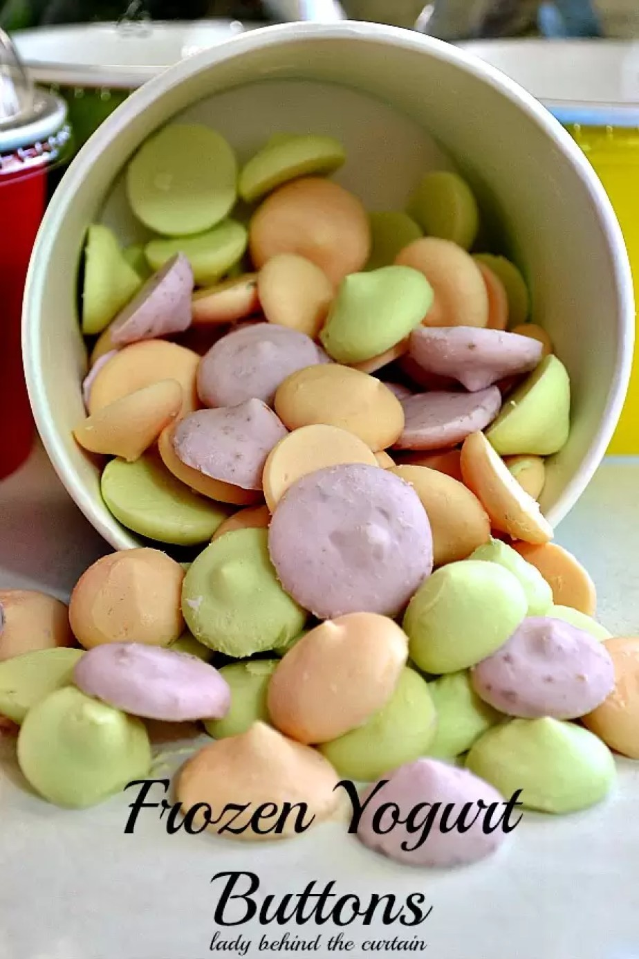 Frozen Yogurt Buttons by Lady Behind the Curtain