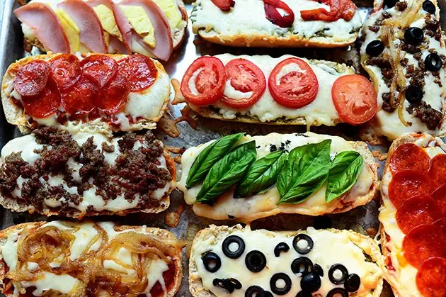 French Bread Pizzas by The Pioneer Woman