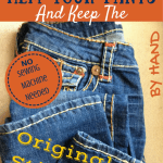 How to Hem Your Pants by Hand and Keep the Original Stitching