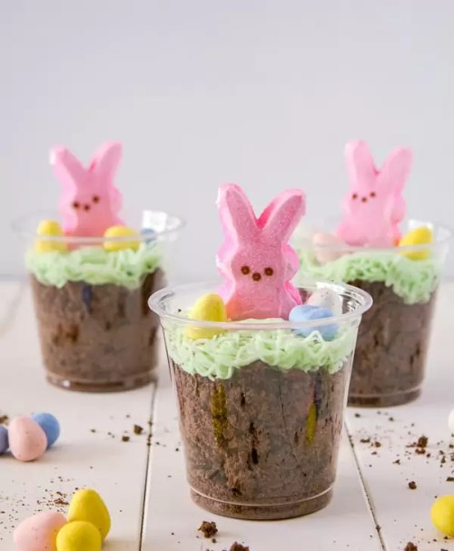 Bunny Dirt Cups from A Zesty Bite