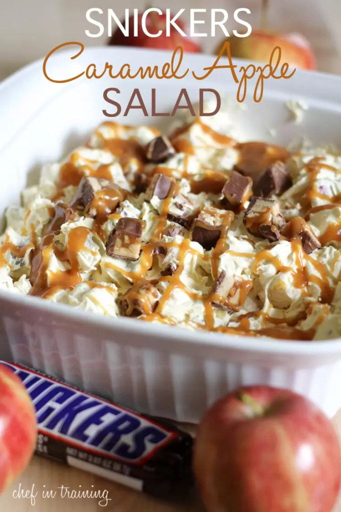 Snickers Caramel Apple Saladby Chef in Training