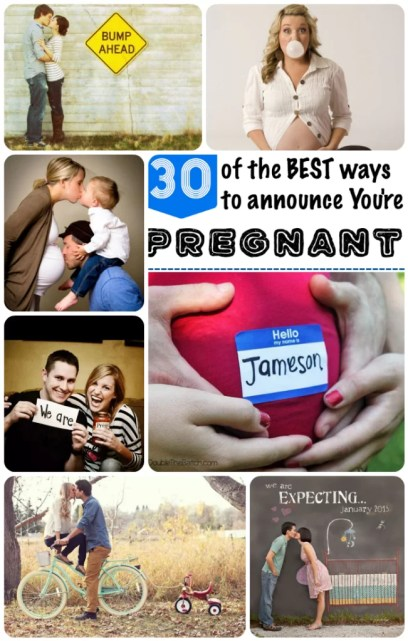 Best ways to announce your Pregnant!!