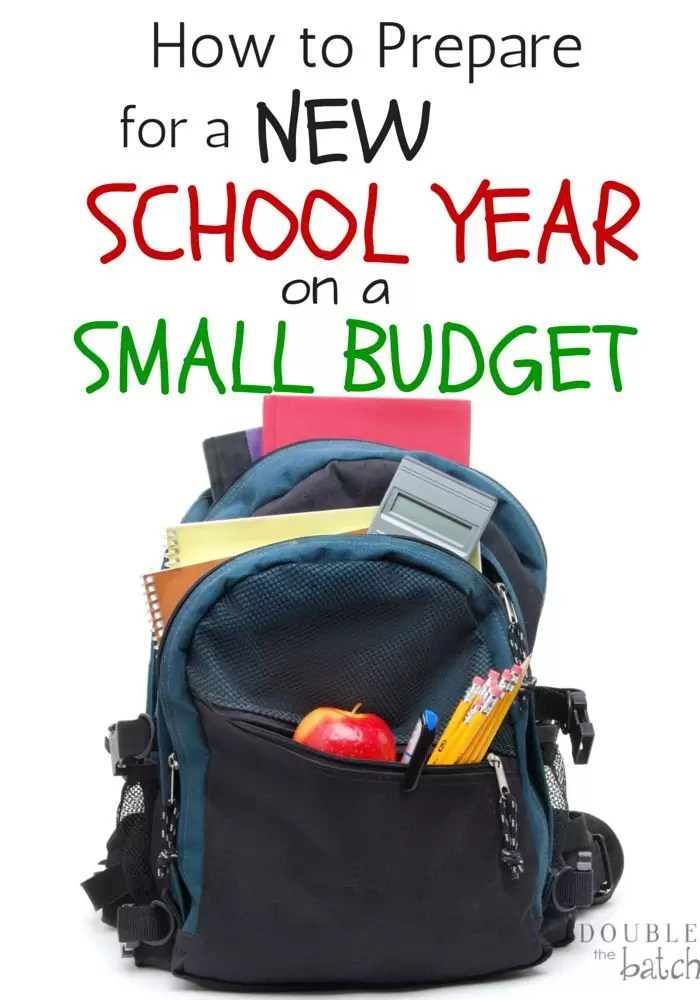 How to prepare for a new school year on a small budget