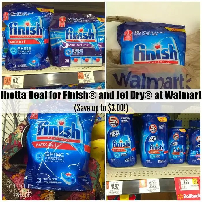 Ibotta Deal for Finish® and Jet Dry® at Walmart