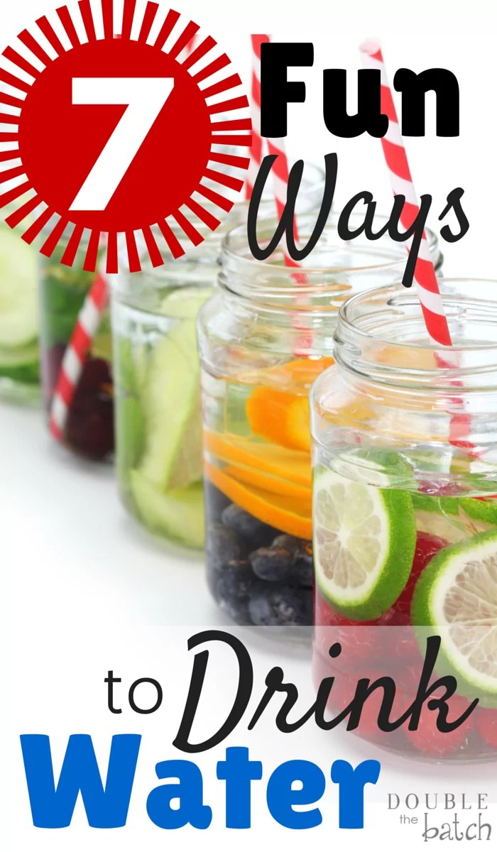 Fun ways to get the WHOLE family to drink more water! #DoubletheBatch