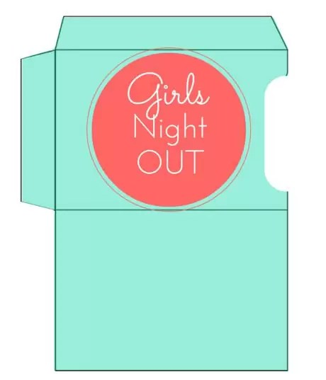Girls Night Out Gift Card Holder Printable