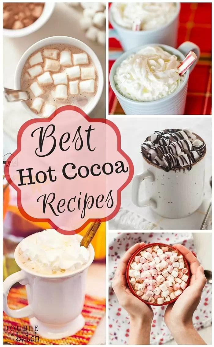 YUMMY hot chocolate recipes to enjoy all winter!