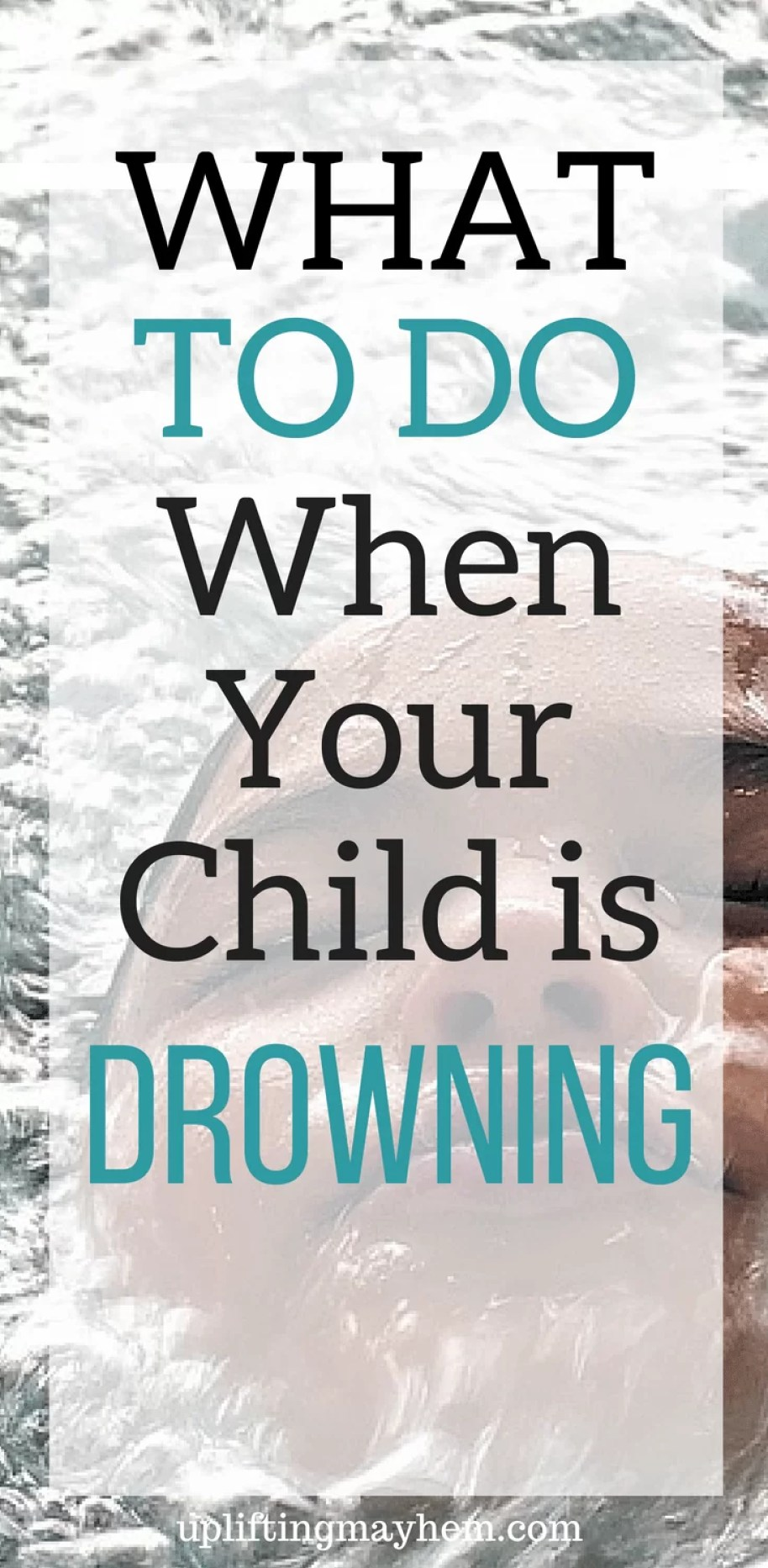 Prepare yourself to know what to do if your child is drowning! Lifesaving information!