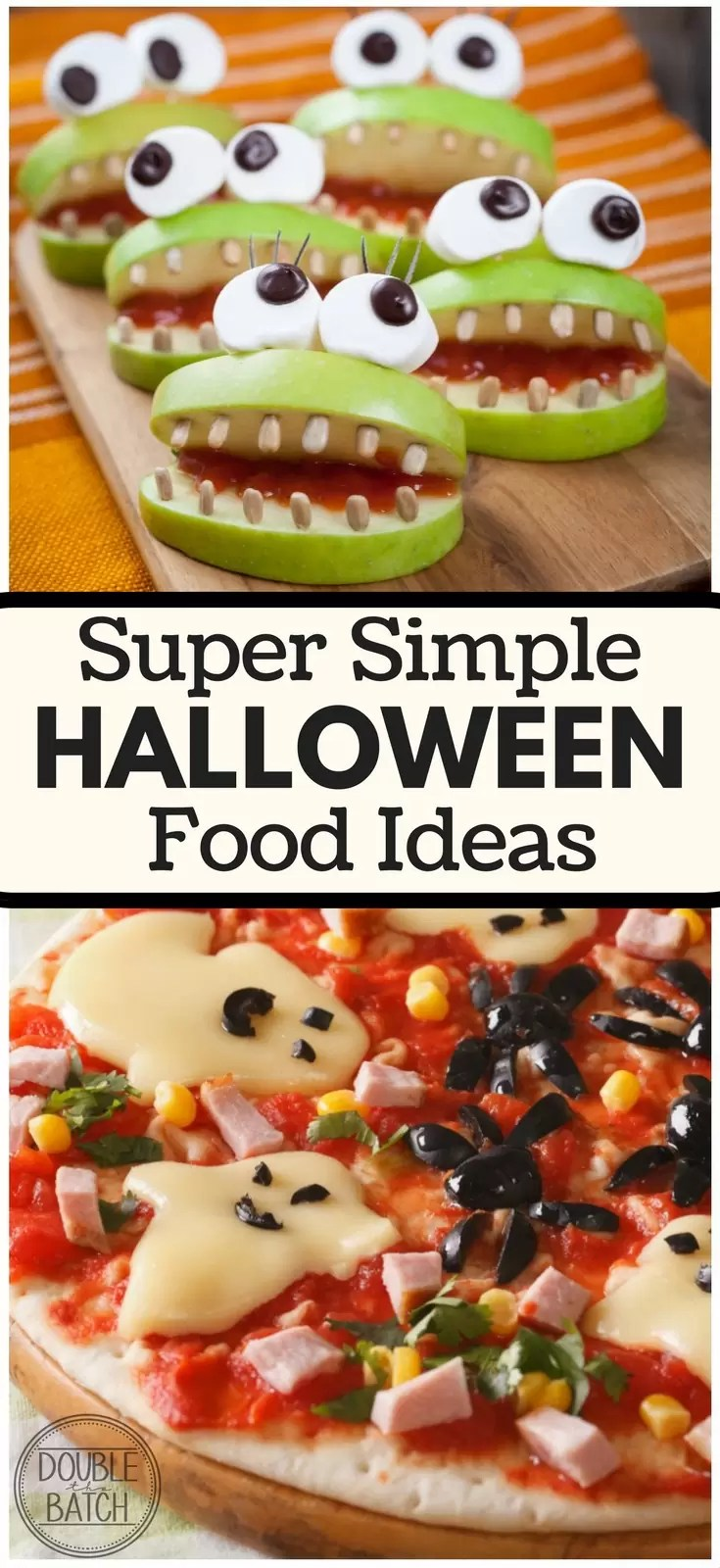 Loving these simple Halloween food ideas! Sanity saved, bellies filled, happy memories made!