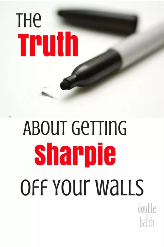I've tried all the suggestions. Let me tell you what really works. The truth about getting Sharpie of your walls.