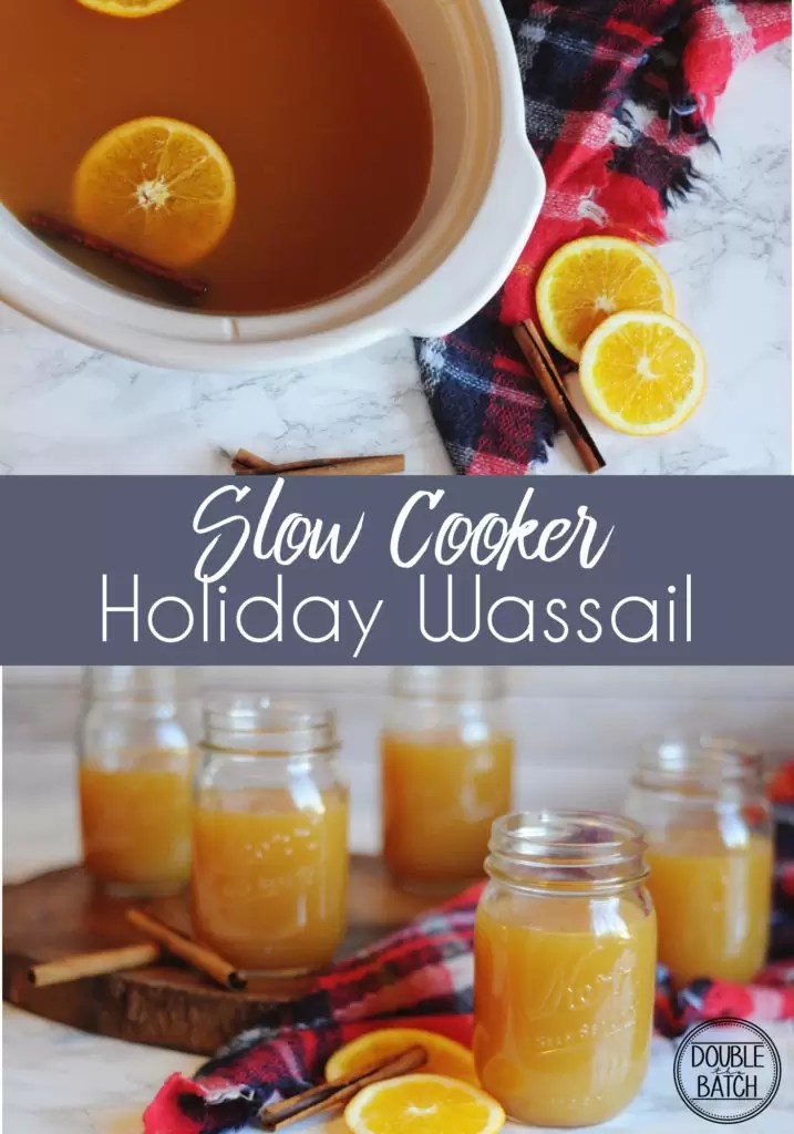 Easy slow cooker Holiday Wassail. Great for holiday parties or family gatherings.