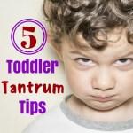 5 Toddler Tantrum Tips