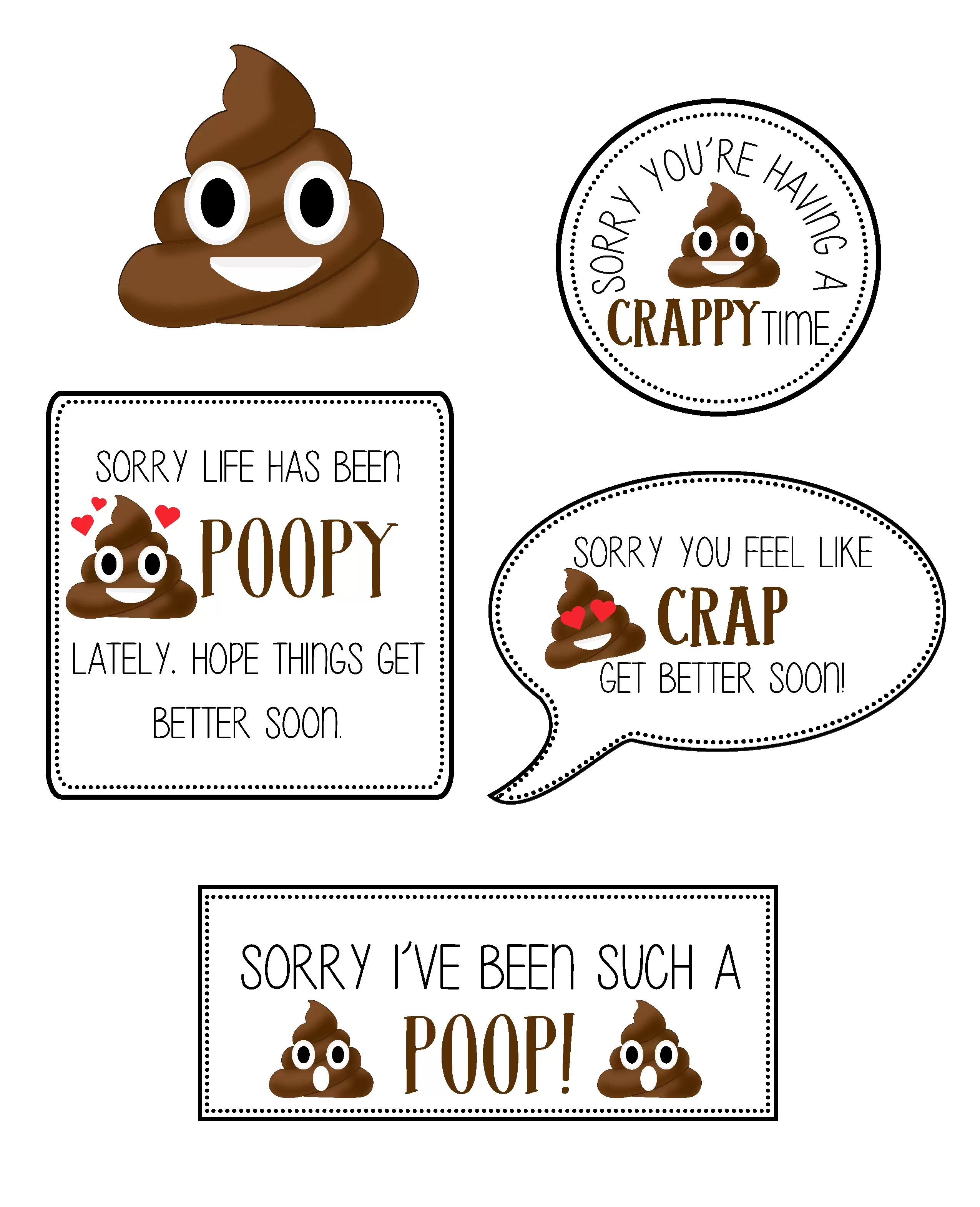 Sweet image pertaining to free printable poop emoji