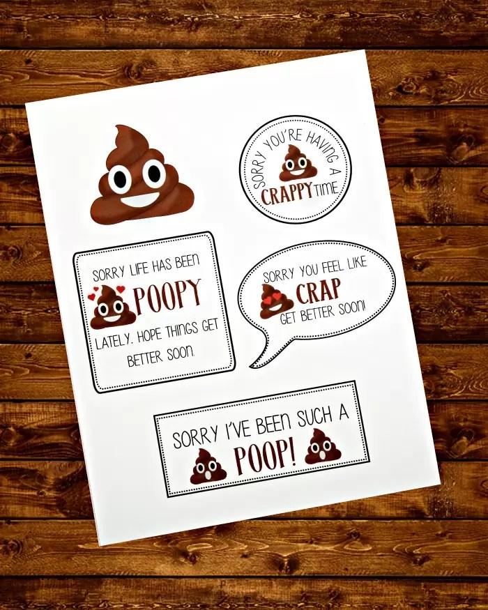 Poop Emoji Printable Tags Photo