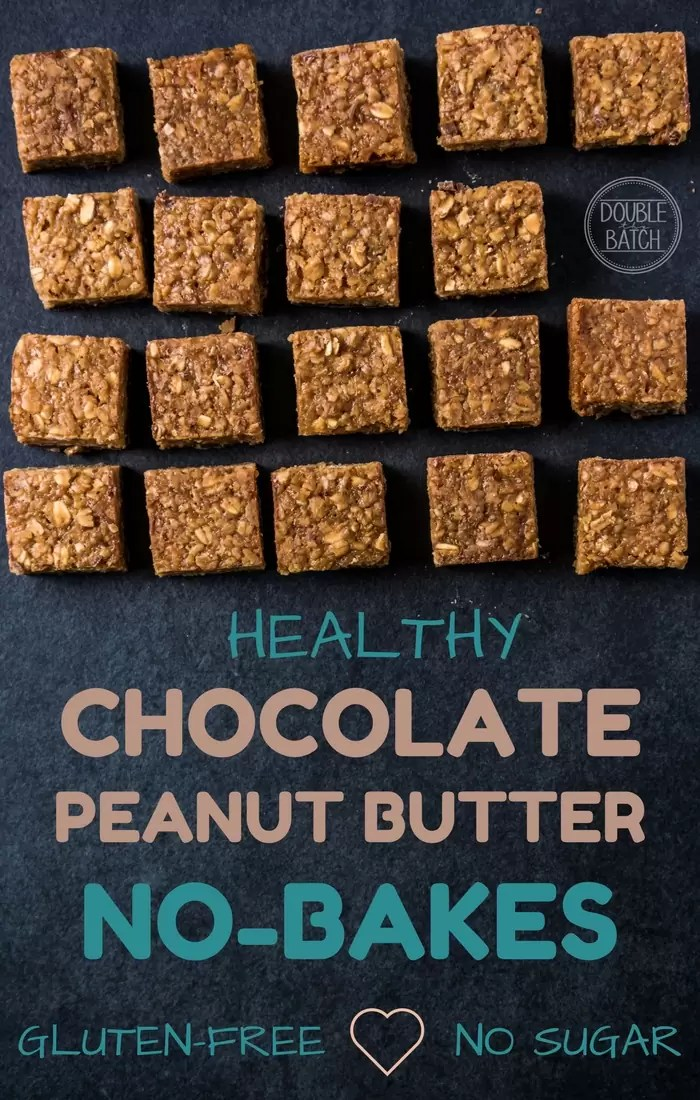 I Crave these EVERYDAY! Healthy Chocolate Peanut Butter Oat Bar Recipe. Gluten free| No Sugar