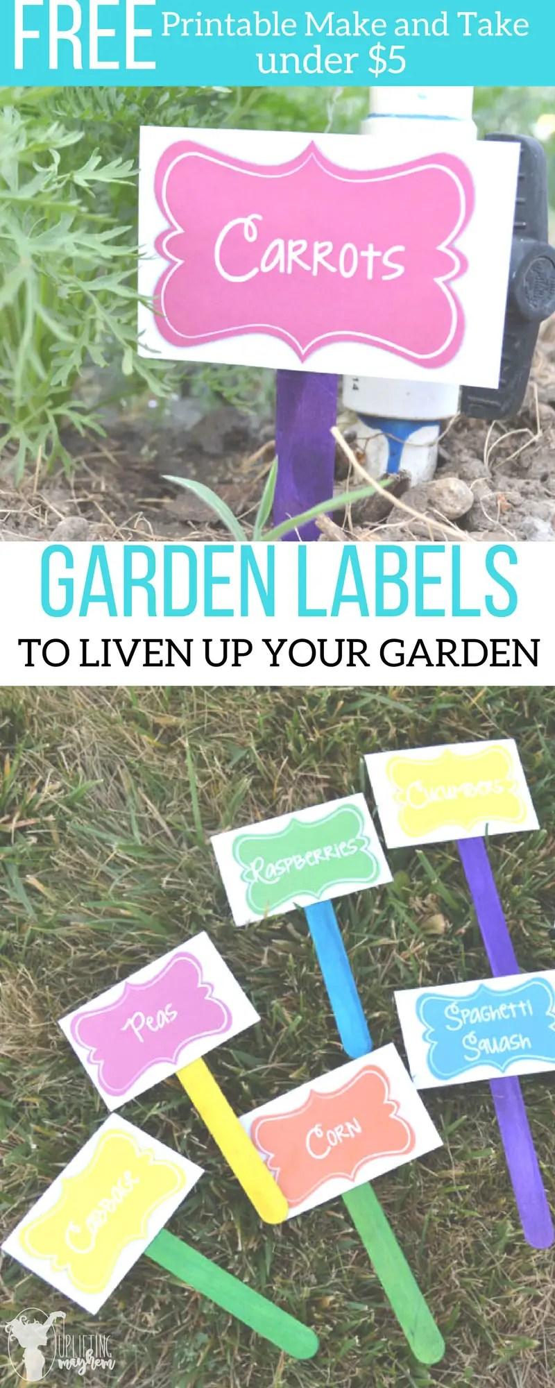 DIY Garden Labels