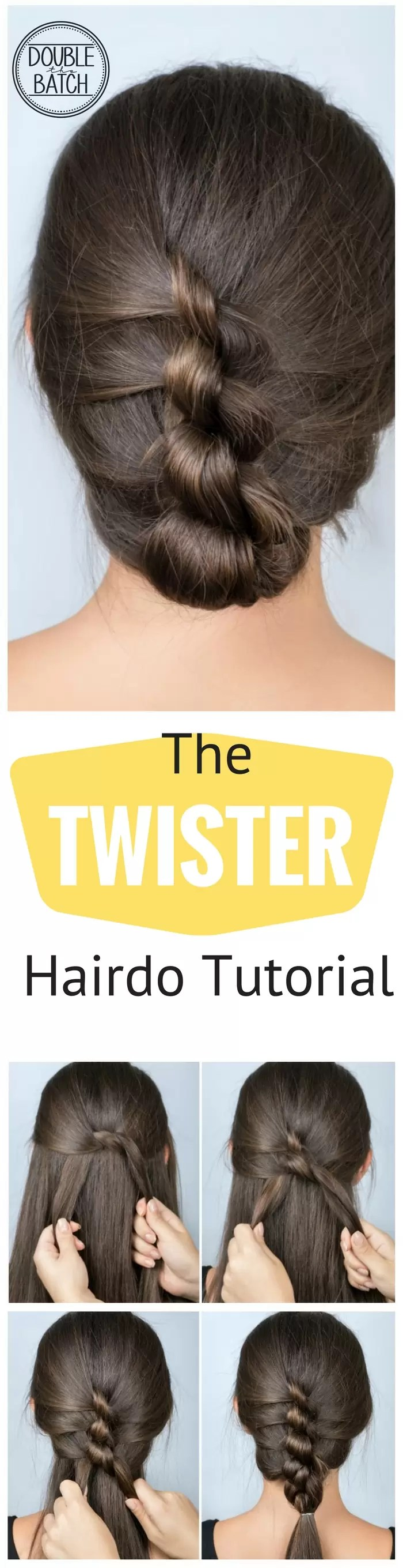 Super simple hairstyles for School: TWISTER Hairstyle Tutorial