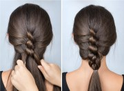 twisted braid simple hairstyle