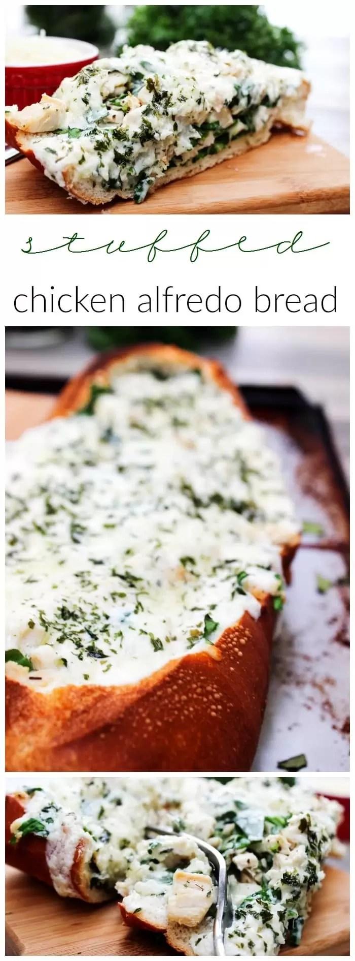 rotissoire chicken alfredo bread. LOVE this stuff!