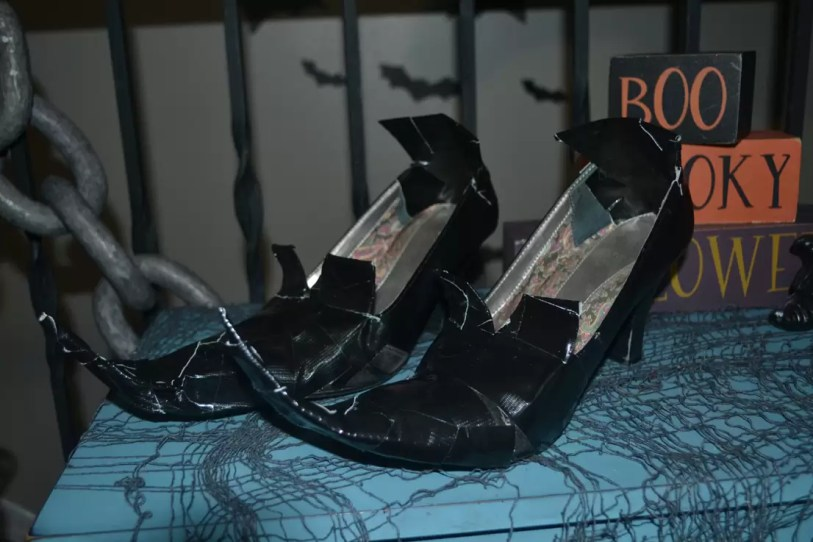 witch shoes, duct tape
