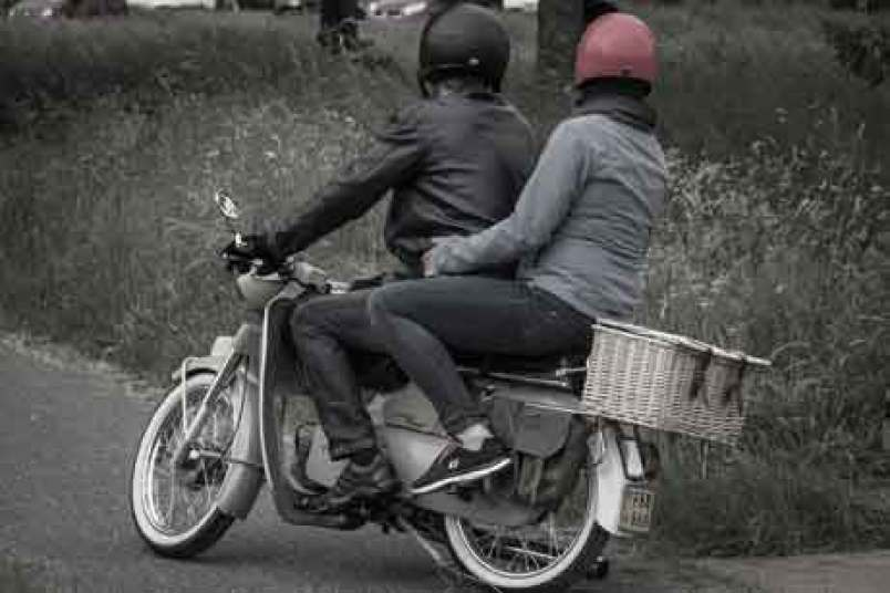 scooter, couple