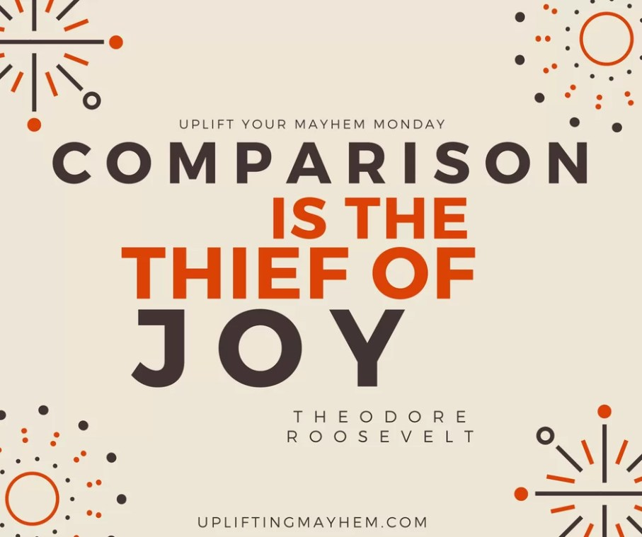 Comparison is the thief of joy! Moms please stop comparing and find joy in your world!