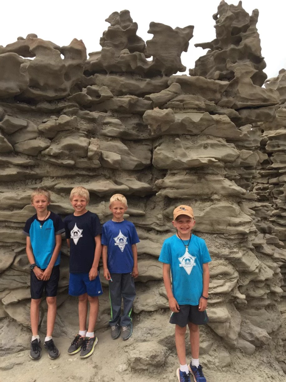Rock formations that are weird and crazy! Fun to explore an hour out of Vernal Utah