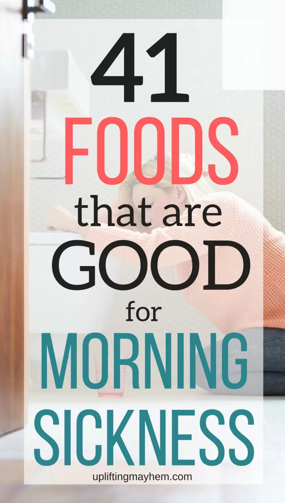 What foods are good for morning sickness? Find some relief in this list of foods provided by other moms just like you experiencing the same thing!