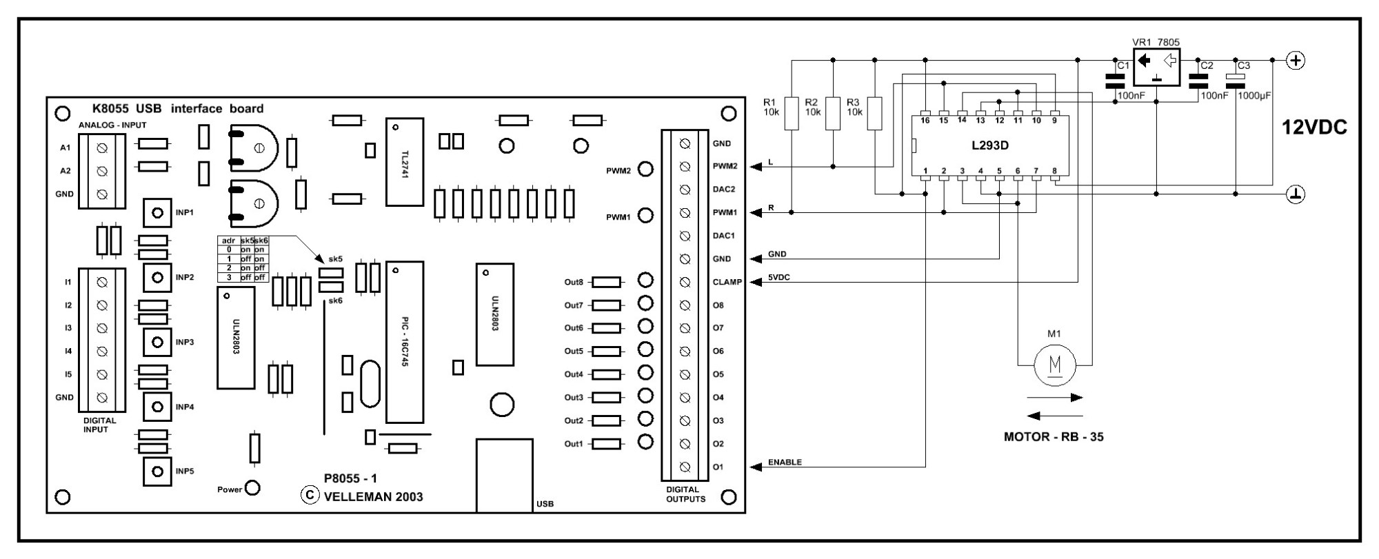 hight resolution of l293d datasheet auto electrical wiring diagram toyota solara 20002001 8212106500 engine harness engine wiring