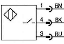 Inductieve sensor symbool