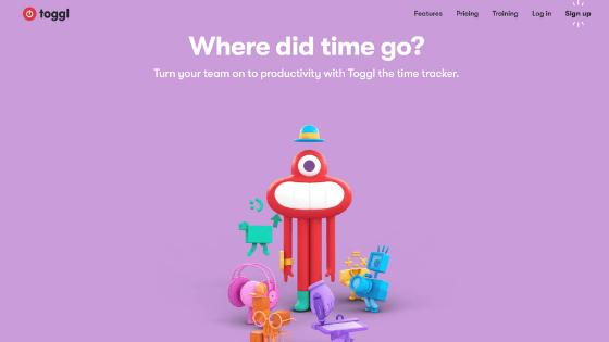 Toggl homepage