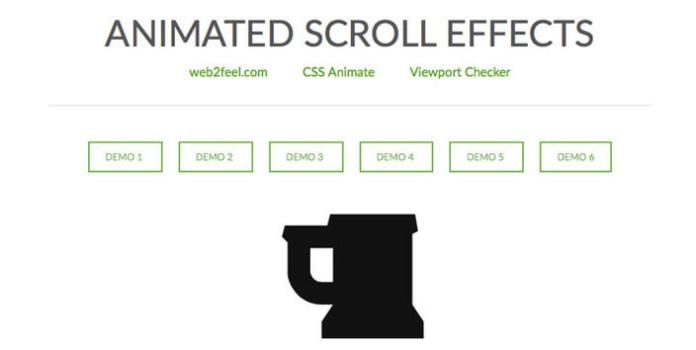 1 – Animated Scroll Effects