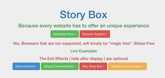 15 – jQuery Story Box - Os 15 melhores Plugins jQuery para criar efeito Scroll Animado com CSS