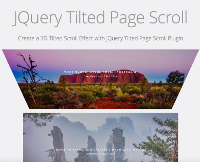 7 – JQuery Tilted Page Scroll